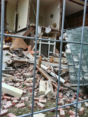 Marist parish house destroyed by earthquake