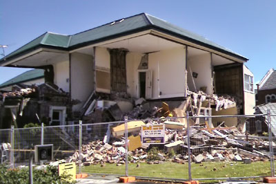 St Mary's Presbytery Christchurch is demolished