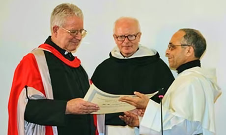 Justin Taylor being presented with his Doctorate from the Angelicum University Rome