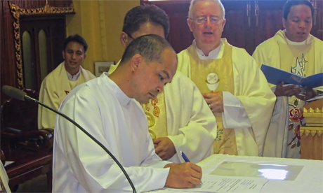 Filipino Marist makes final profession in Thailand