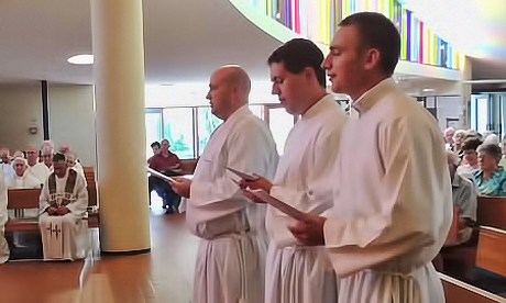 Three young men take Marist vows