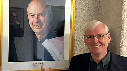 Vicar General of the Society of Mary, Fr Larry Duffy with Fr Paul Martin