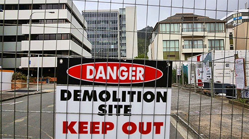 earthquake makes demolition a necessity