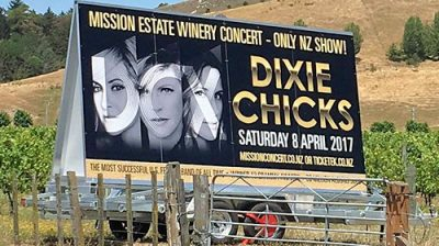 Dixie Chicks billboard stolen