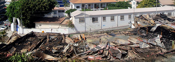 Nouméa community building razed