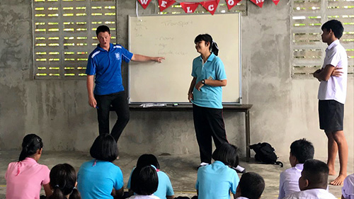 St Pats students teach English in Ranong Thailand