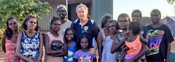 Fr Pius Jones adopted by Aborigine clan